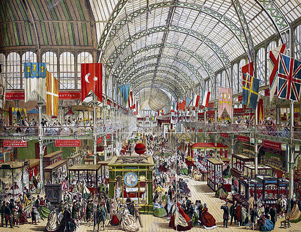 interieur du crystal palace, londres 1851