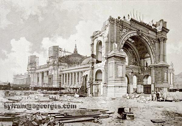 Destruction palais industrie 1900